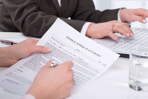 Information about a power of attorney