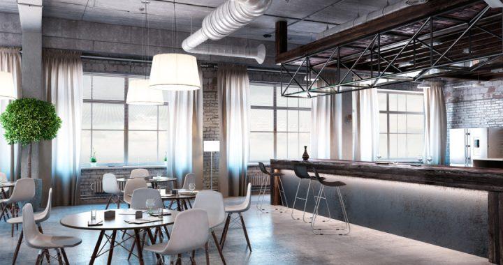Modern empty office interior as design sample